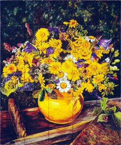 Flowers in yellow