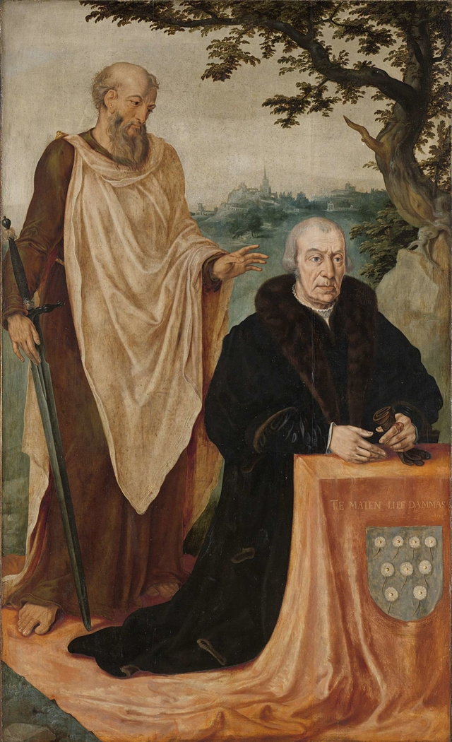 Portrait of the Donor Matelief Dammasz. with Saint Paul
