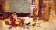 Sketch for The Favorites of the Emperor Honorius (study)