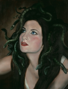 Turning of Medusa (portrait)