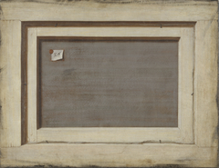Trompe l'oeil. The Reverse of a Framed Painting.