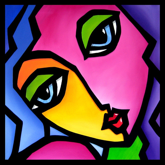 Once Again - Original Abstract painting Modern pop Art ...