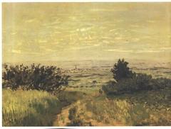 Vue de plaine à Argenteuil, coteaux de Sannois