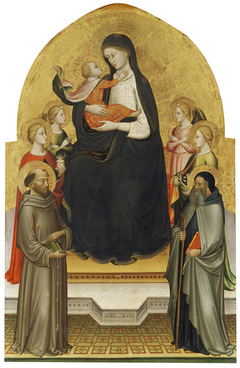 Madonna and Christ Child with Angels and Saints Mary Magdalene, Francis, Dorothy and Anthony Abbot