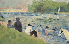 Bathers (Study for  Bathers at Asnieres )