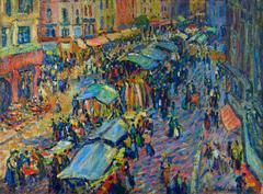 Le marché de Pont Audemer (The Market at Pont Audemer)
