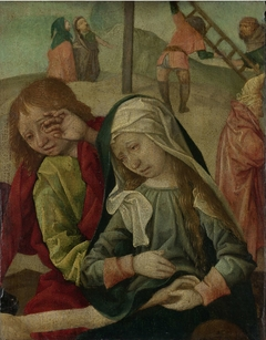 Virgin and Saint John Mourning over the Body of Christ, fragment of a Lamentation of Christ