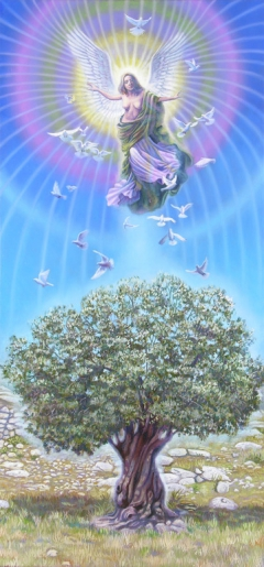 Angel over the Olive Tree