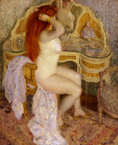 Nude Seated at Her Dressing Table