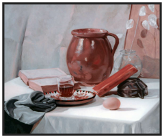 Still Life in Red & Black