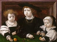 Three children of King Christian II of Denmark